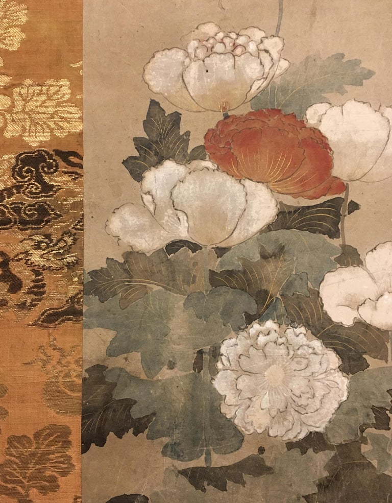 18th Century Japanese Scroll of Poppies