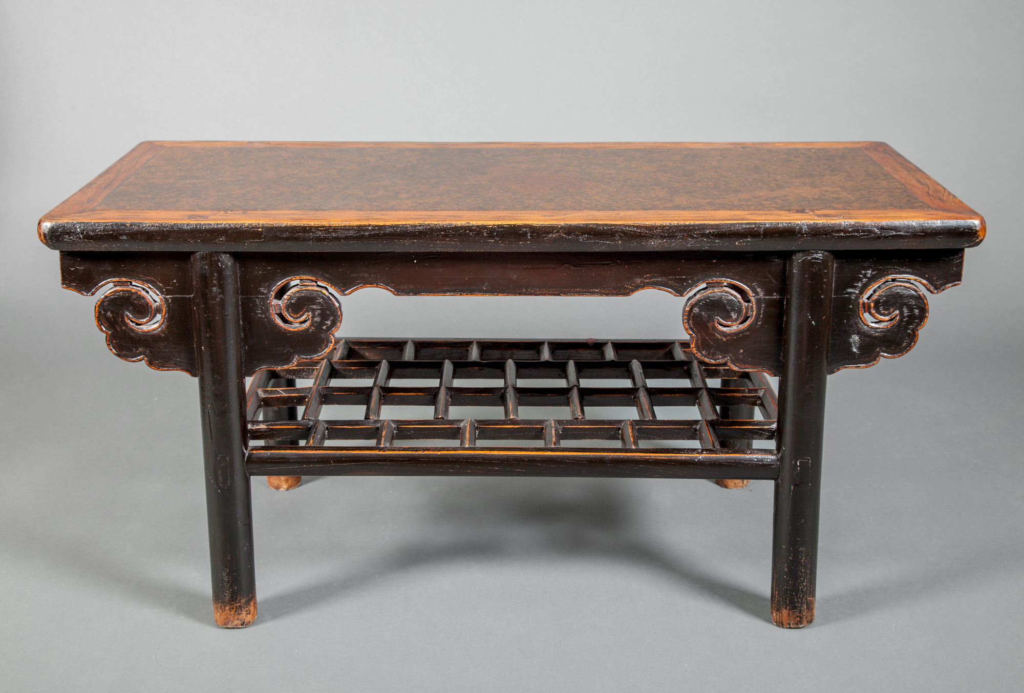 Chinese Small Console with Puddingstone Inset Top