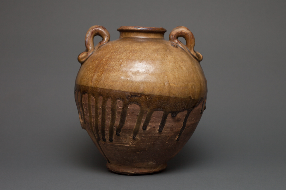 Chinese Storage Jar with Natural Drip Glaze