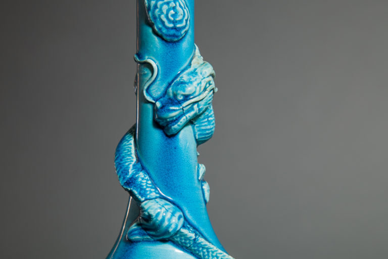 Chinese Turquoise-Glazed Porcelain Bottle Vase