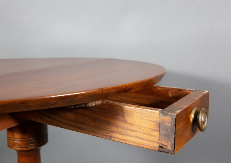 Chippendale Walnut and Mahogany Tripod Table
