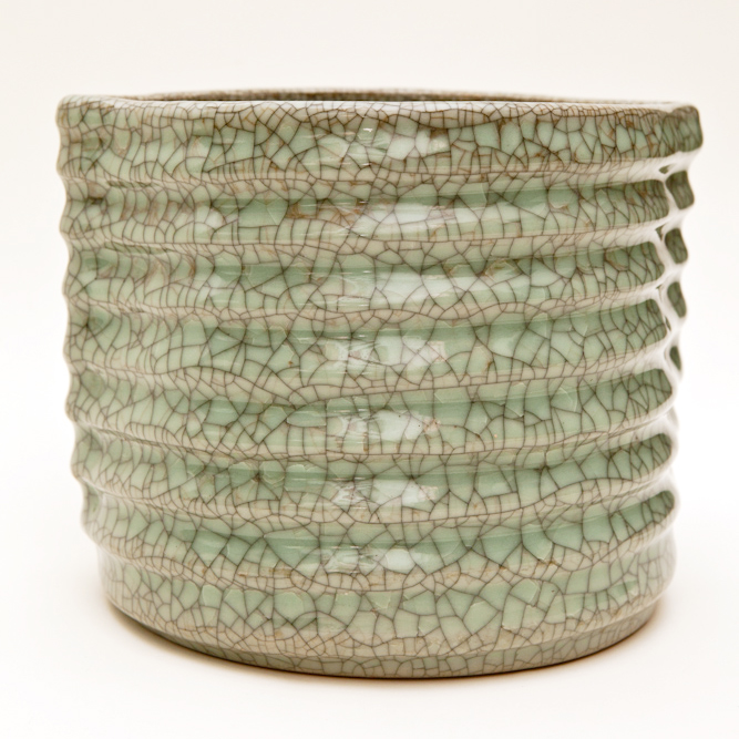 Crackled Celadon Mizusashi (Water Container)