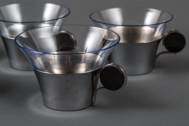 Set of Six Deco Coffee Cups