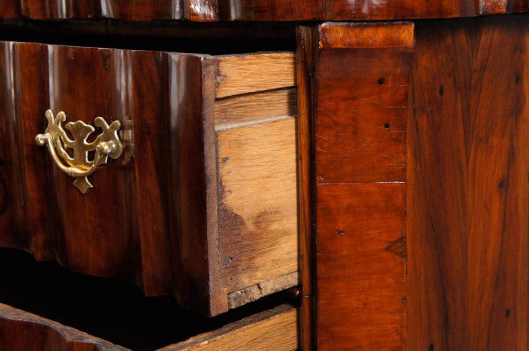 Dutch 18th Century 3 Drawer Chest                             33 3/8″w. x 19 1/2″d. x 29 7/8″h.