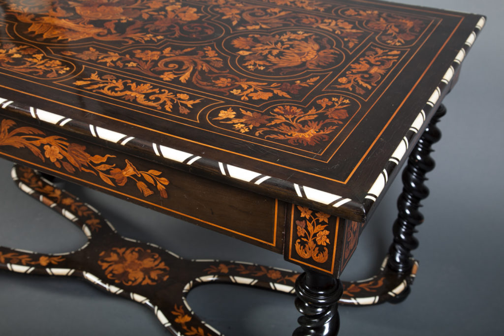 Dutch Marquetry Writing Table with Inlay