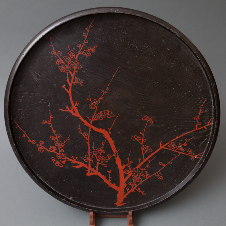 Early 19th Century Japanese Black and Red Lacquer Tray