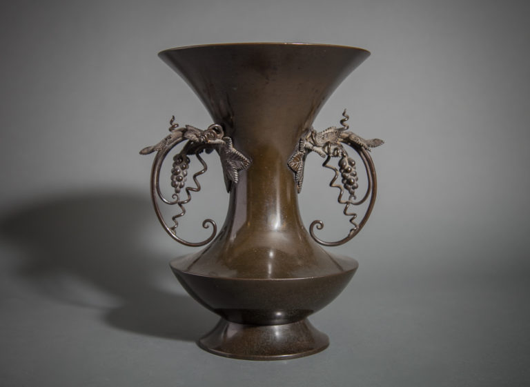 Early 19th Century Superior Quality Japanese Bronze Vase