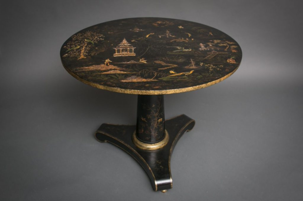 English Chinoiserie Center Table