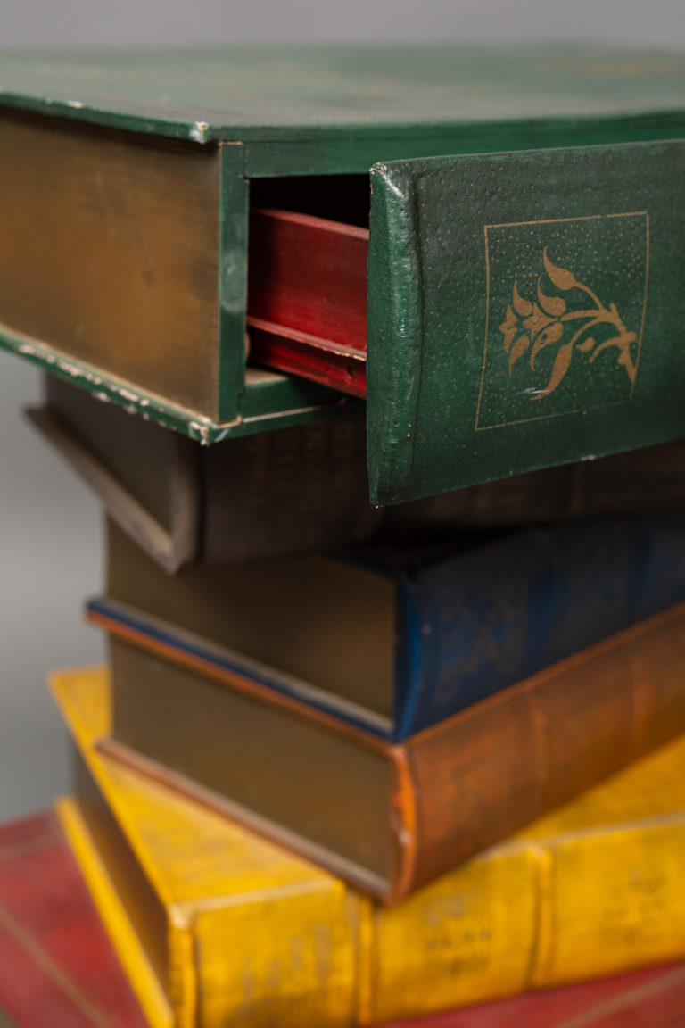 English Side Table in the Shape of Stacked Books