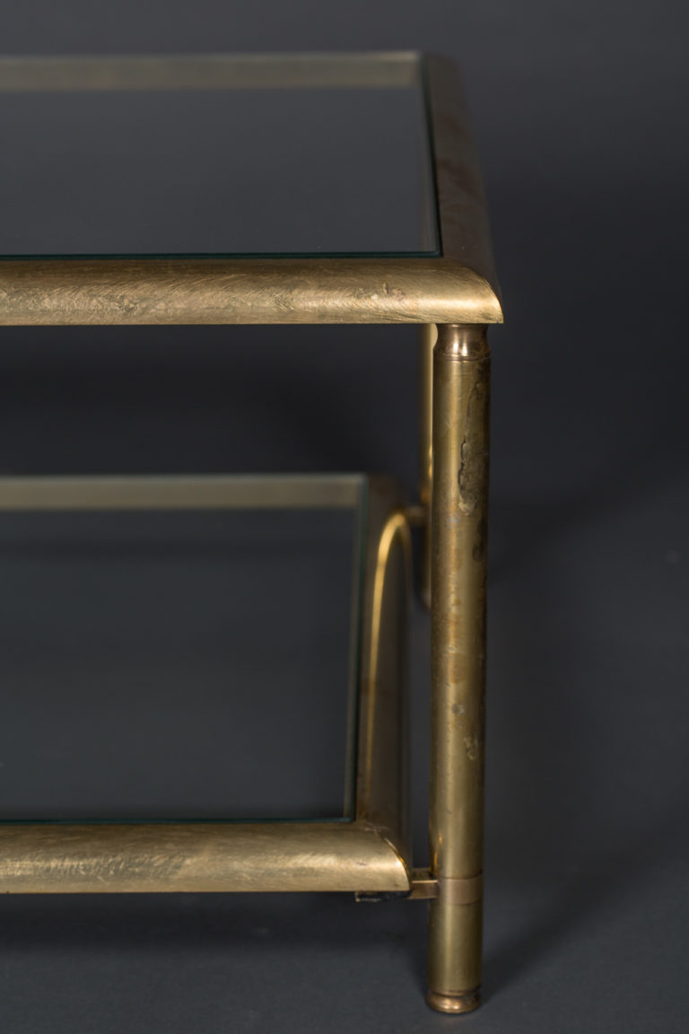 French Brass 2-tier Coffee Table