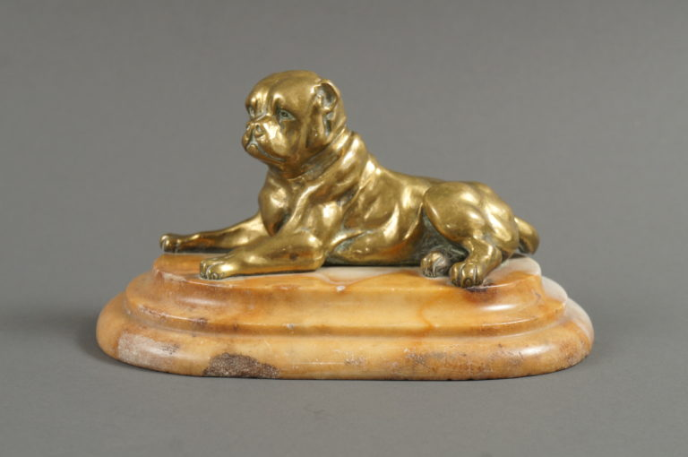 French Bronze Sculpture of a Dog.