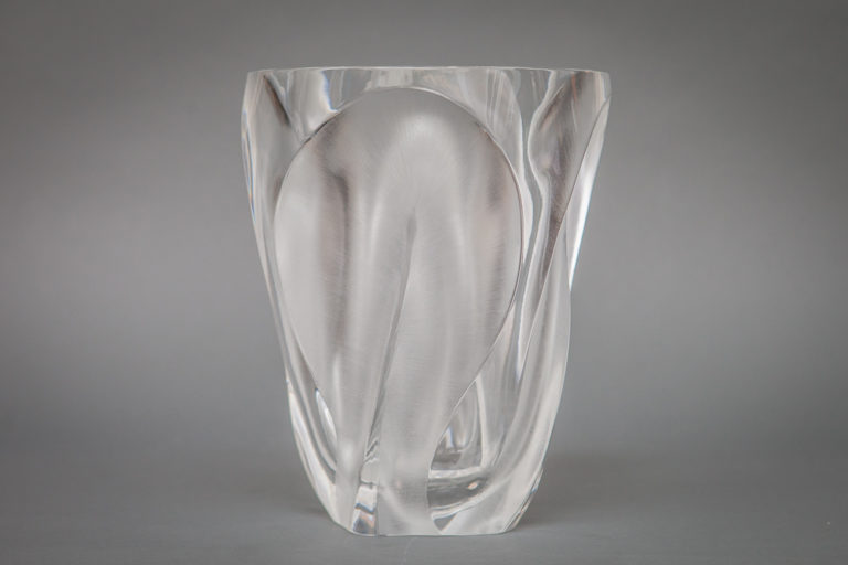 French Lalique Glass Vase
