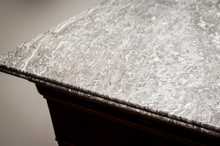 French Louis Philippe Secretary with Marble Top