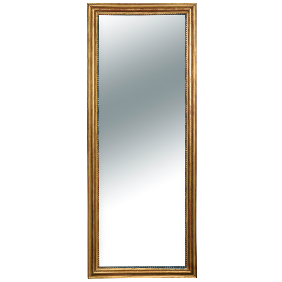 French Louis Philippe Style Giltwood  Mirror
