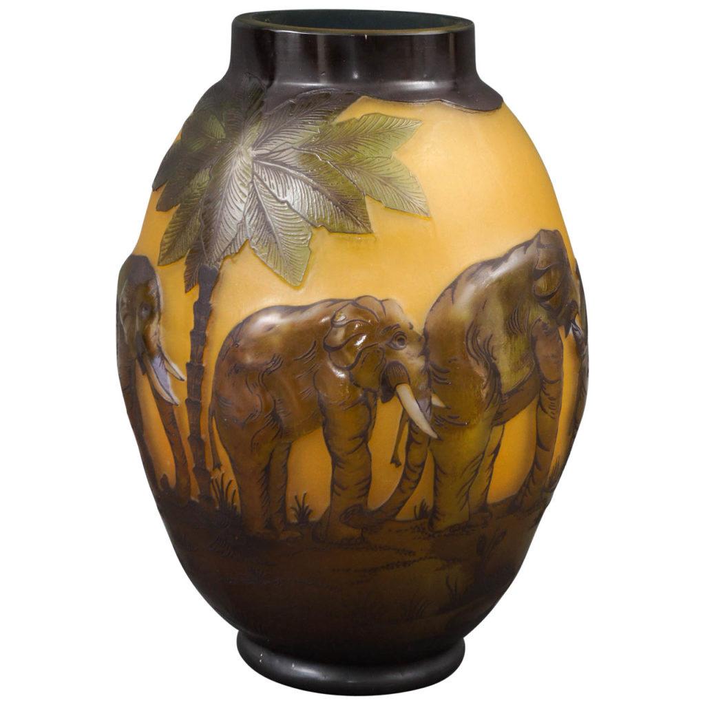Gallé Etched Glass Vase