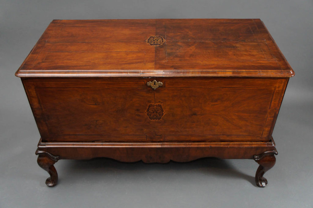 George I Style Walnut-Inlaid Blanket Chest