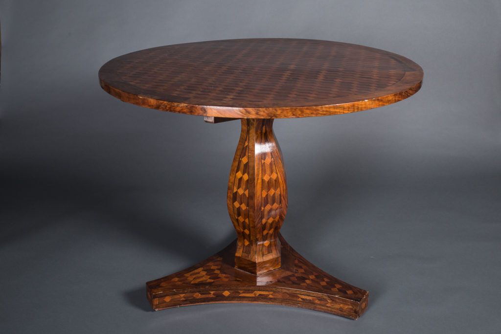 German Continental Marquetry Center Table
