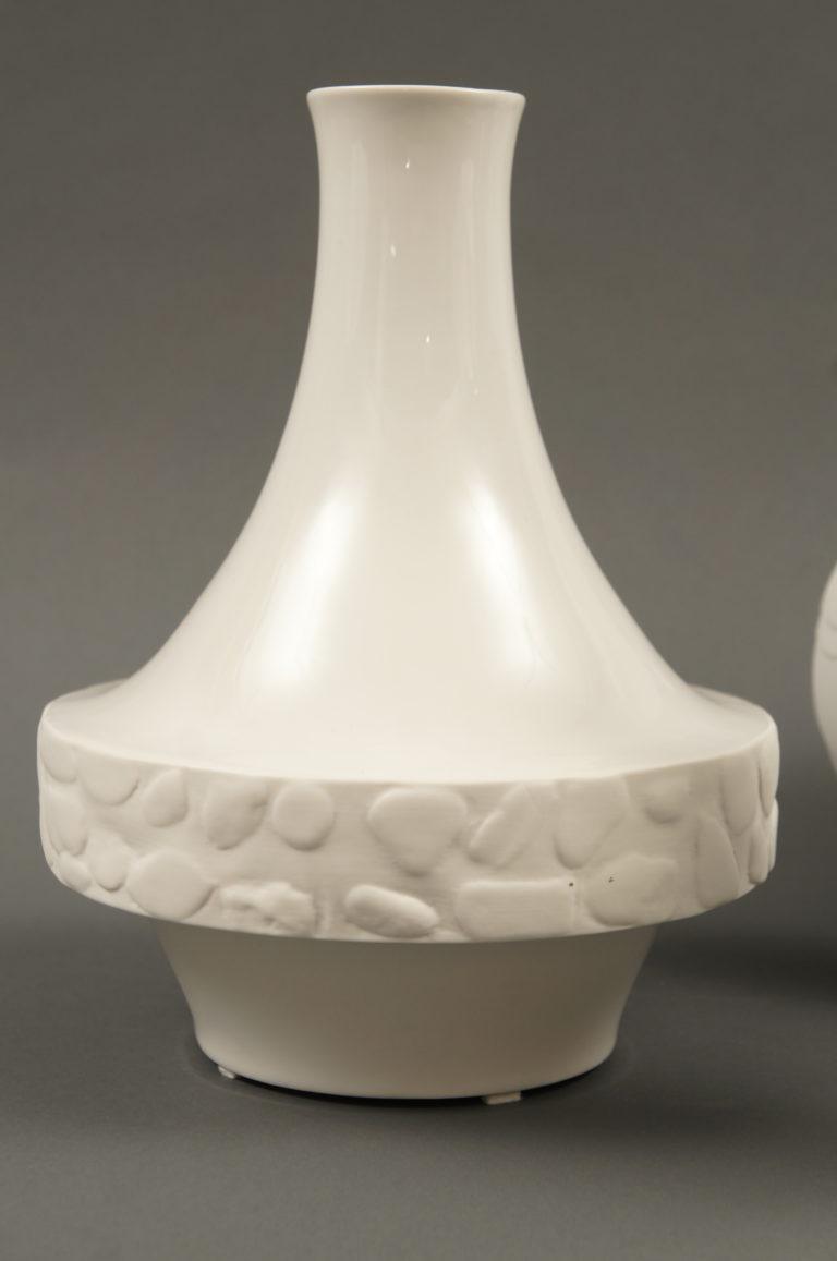 German White Ceramic Vase