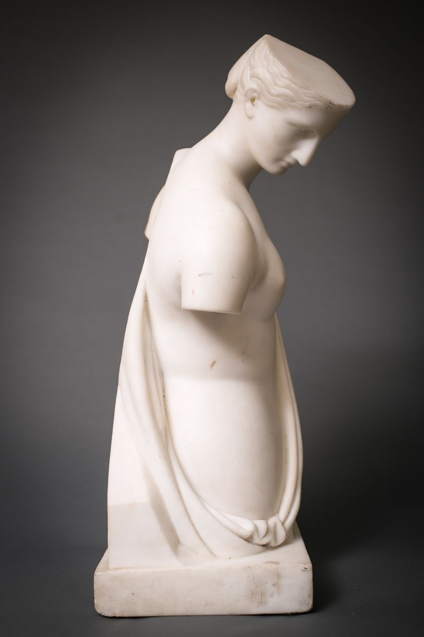 Grand Tour Cararra Marble Sculpture of Psyche of Capua