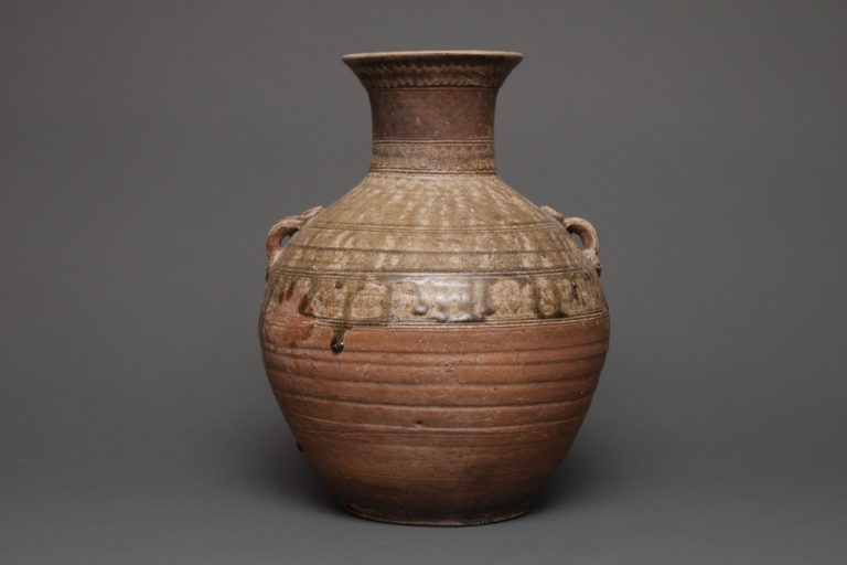 Han Dynasty 206 BC- 220AD Chinese Storage Jar with Natural Drip Glaze