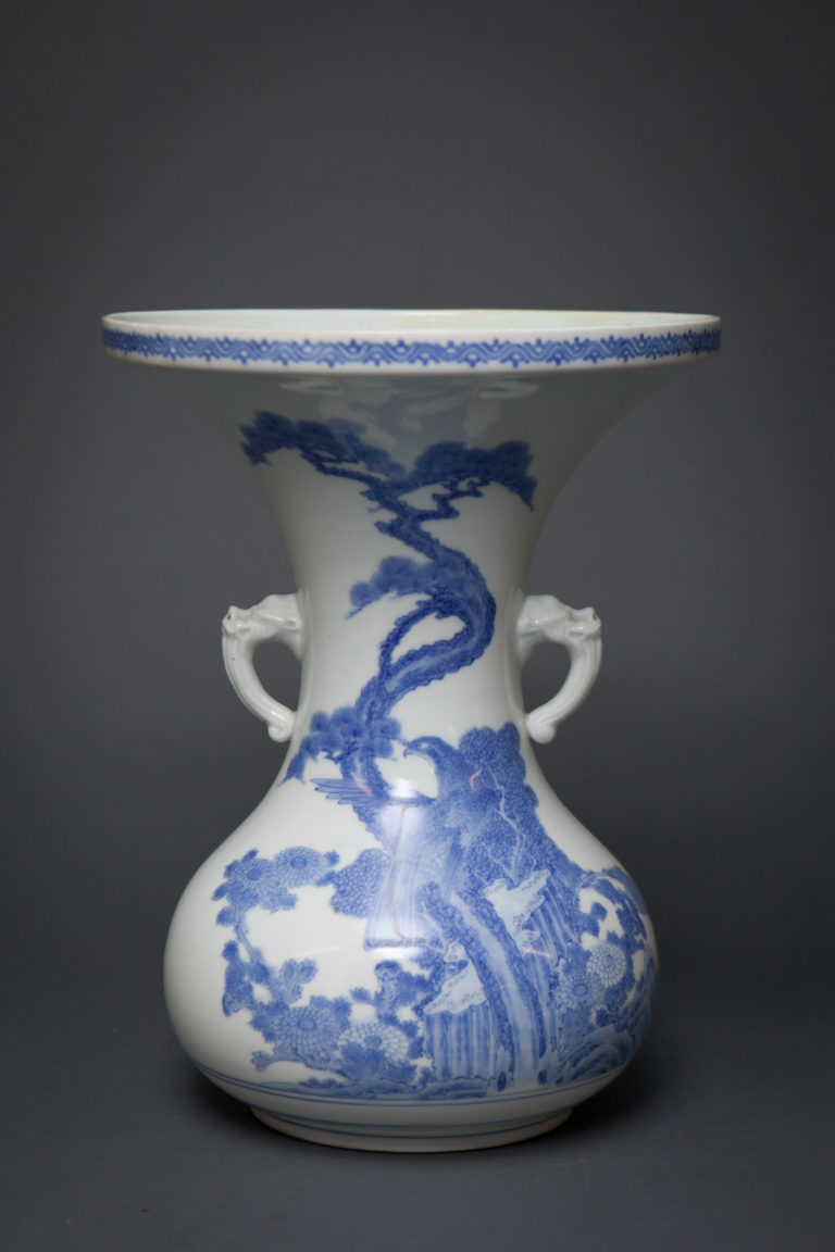 Hirado Vase Blue and White Studio Vase
