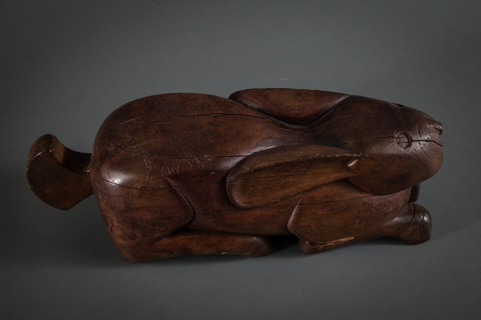 Indonesian Coconut Chopping Block of a Bunny