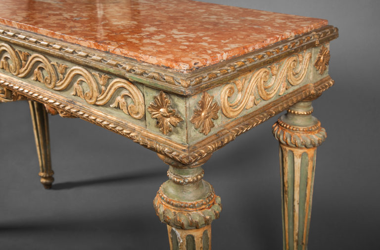 Italian Console with Marble Top