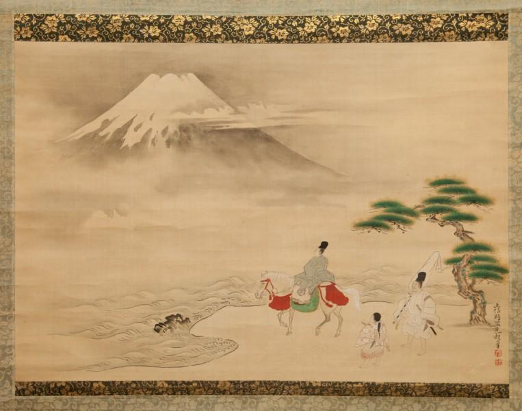 18th Century Japanese Scroll: Scene from Isemonogatari (Tales of Ise)