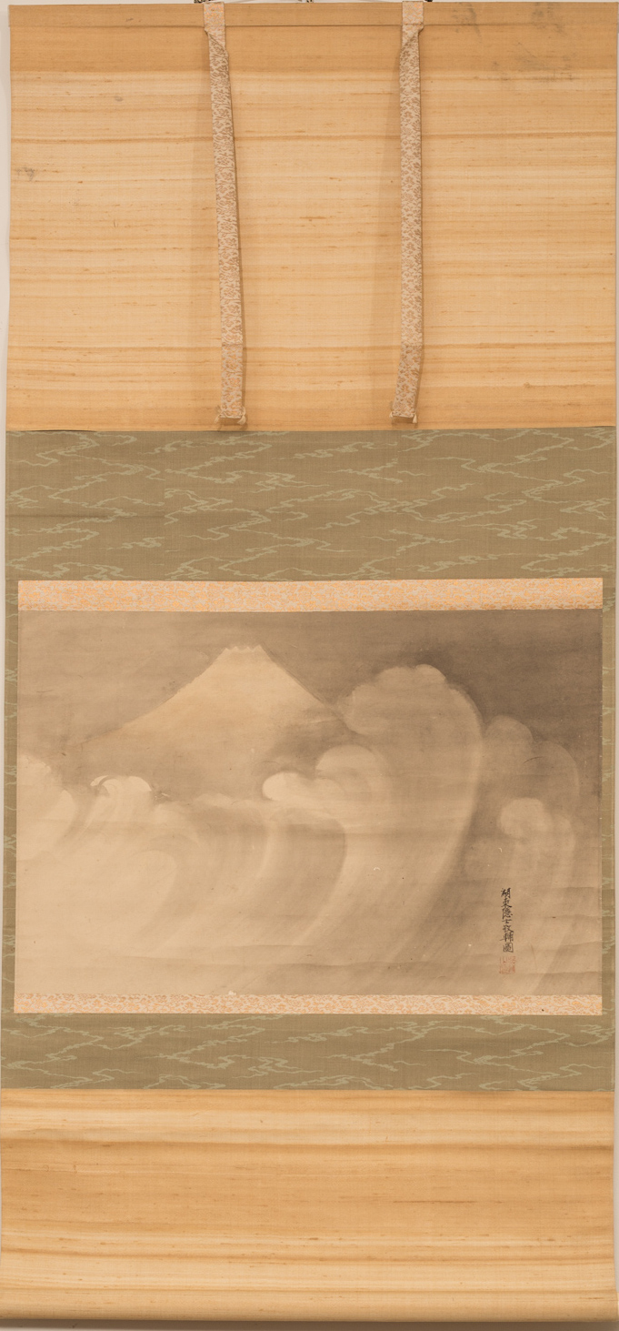 18th Century Japanese Scroll of Fuji-san