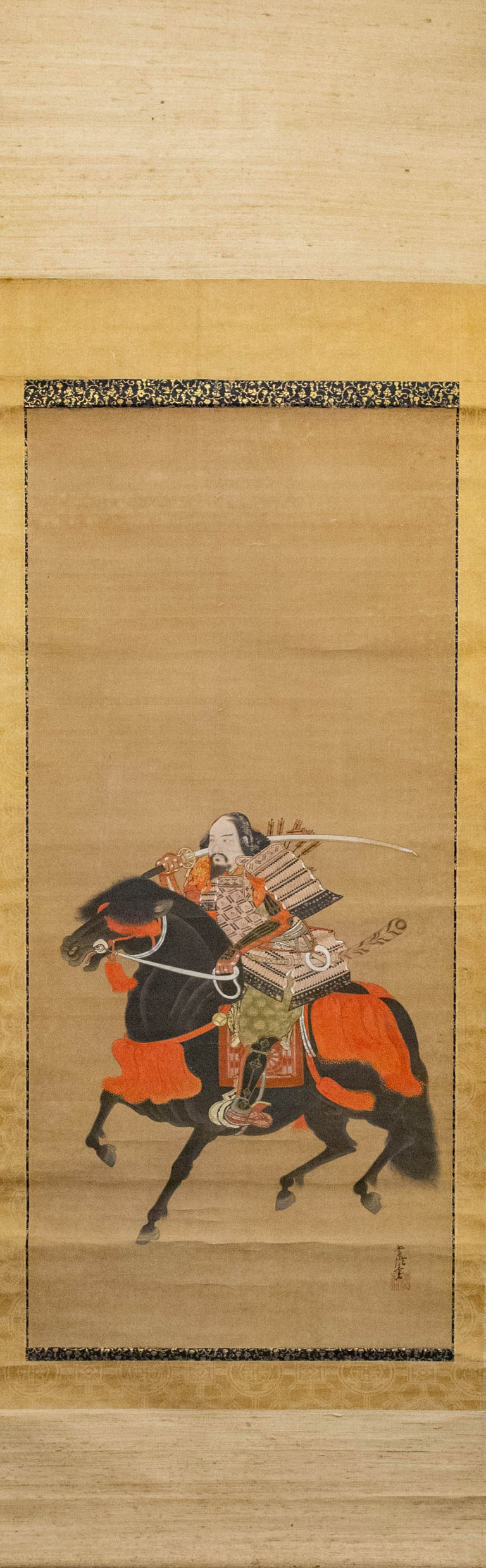 Japanese 18th Century Scroll of Shogun Ashikaga Takauji