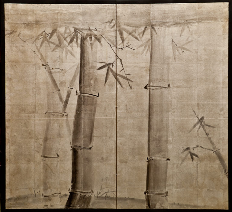 Japanese Two Panel Screen: Bamboo Grove