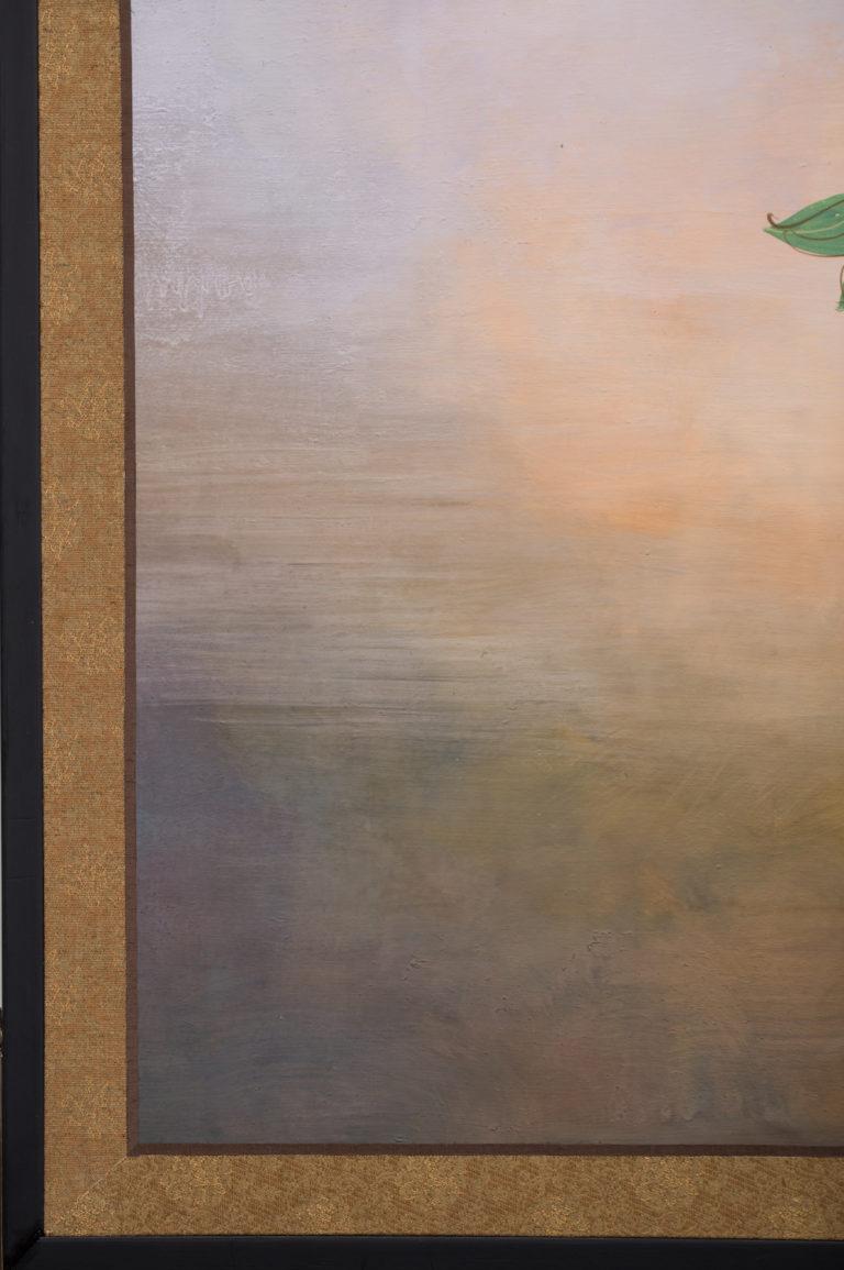 Japanese Four Panel Screen: Scotties Under Roses