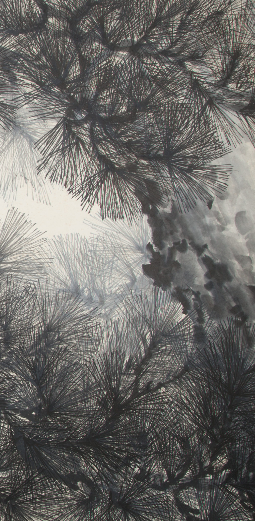 Japanese Four Panel Screen: Pine Tree – A