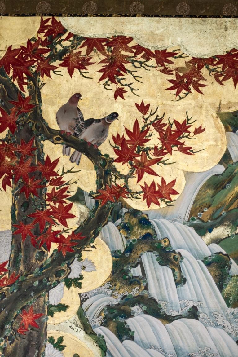 Japanese Six Panel Screen: Four Seasons