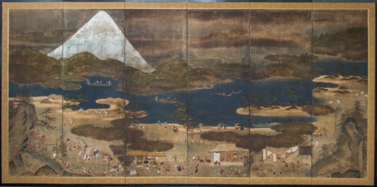 Japanese Six Panel Screen: Mount Fuji