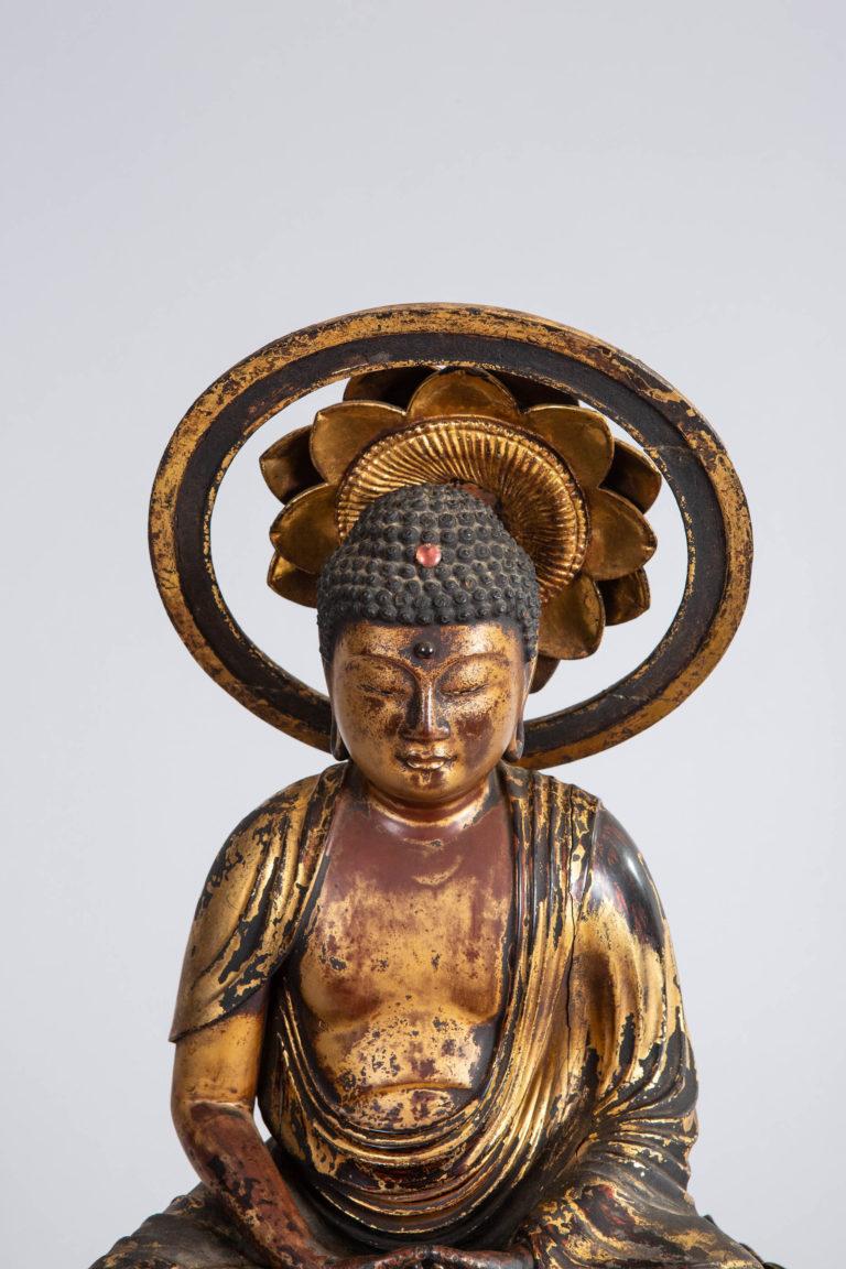 14th Century Japanese Gilded Amida Buddha