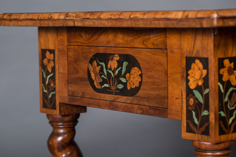 18th Century Dutch Desk with Inlay