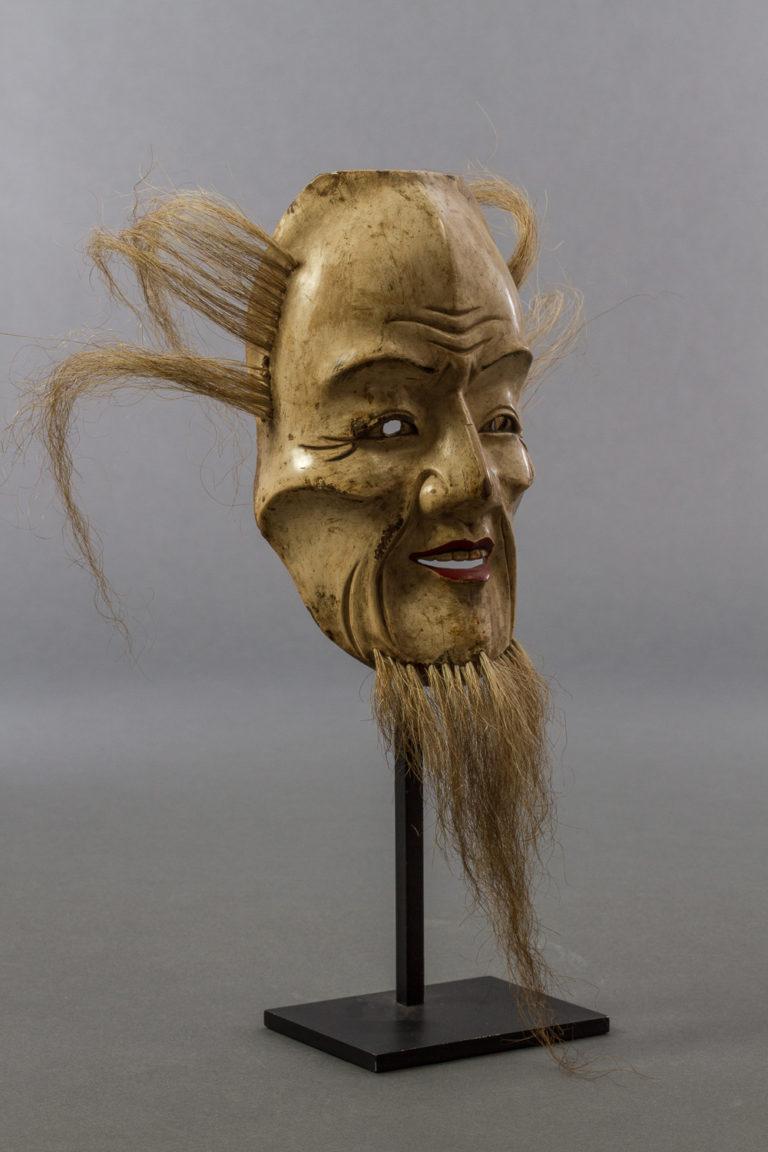 18th Century Japanese Wood Noh Mask of Jo