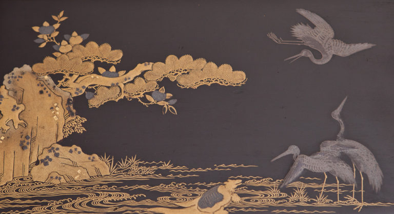 19th Century Japanese Black Lacquer Chabako