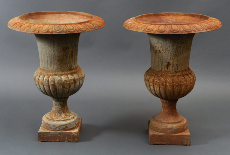 20th Century French Iron Urns