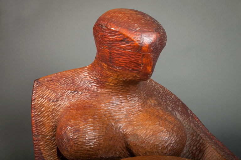 Abstract Sculpture of A Reclining Woman