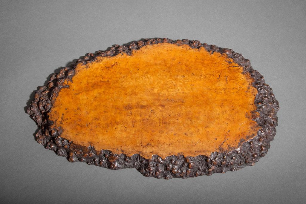 Japanese Burl Wood Tray