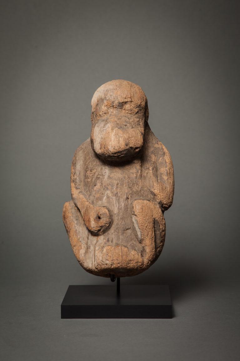 African Sculpture of a Chimpanzee