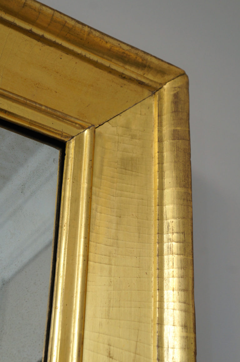 American 1820's Gilt Wood Scully Mirror