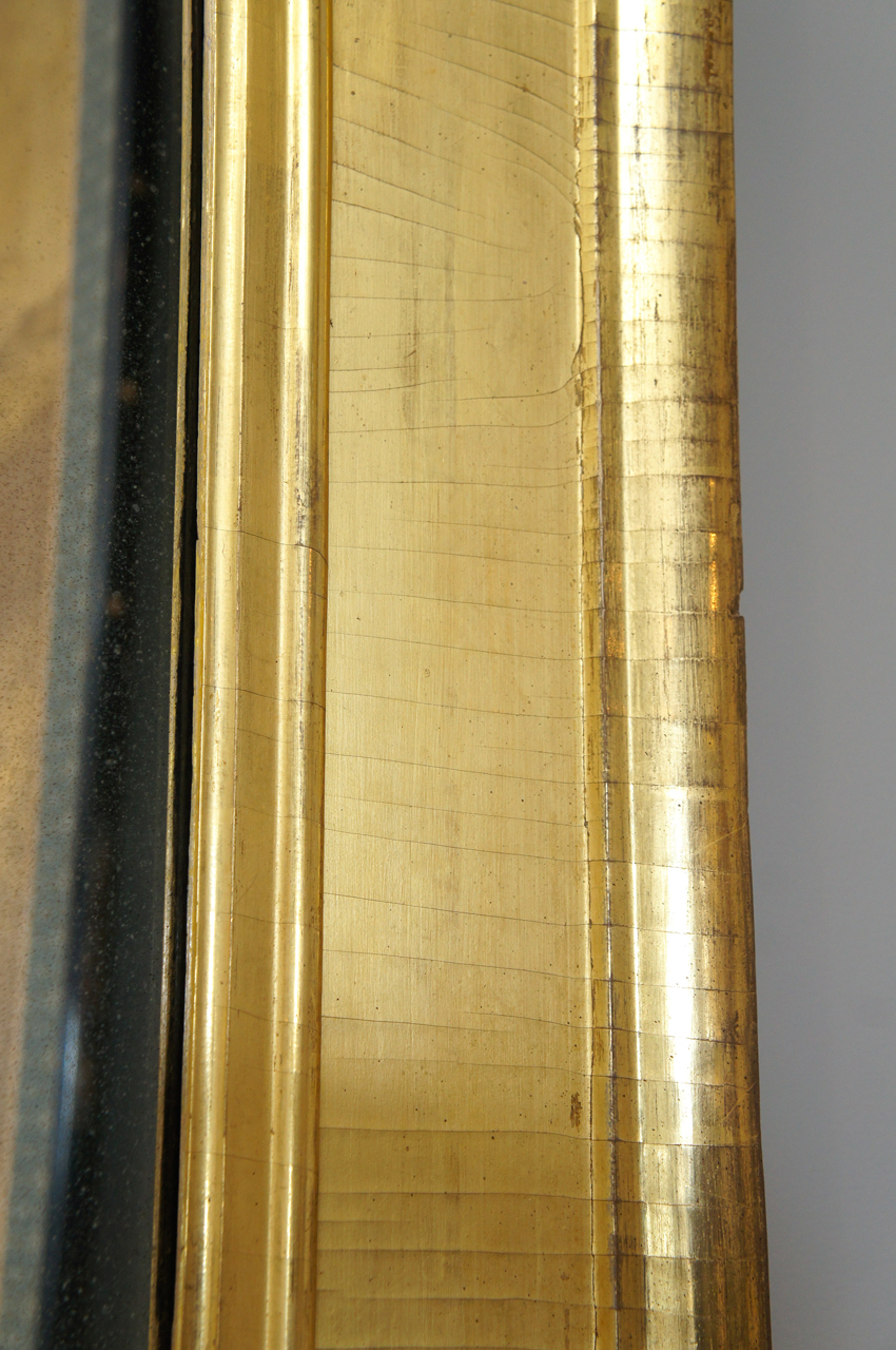American 1820s Gilt Wood Scully Mirror