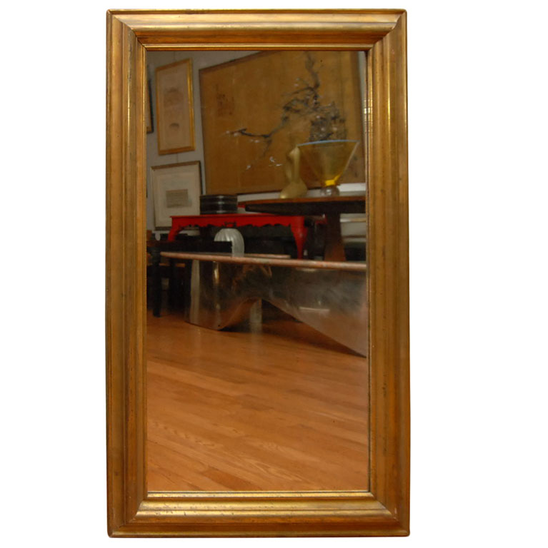 American Empire Giltwood Mirror