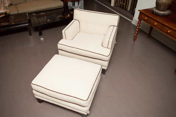 American Lounge Chair with Ottoman