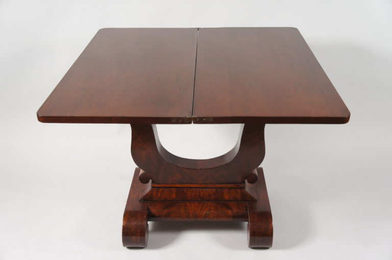 American Mahogany Extendable Games Table.