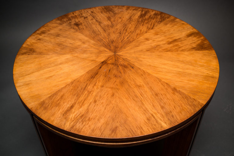 Art Deco French Table with Shelf