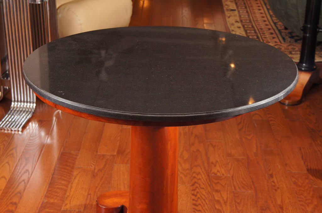 Biedermeier Style Walnut and Ebonized Side Table